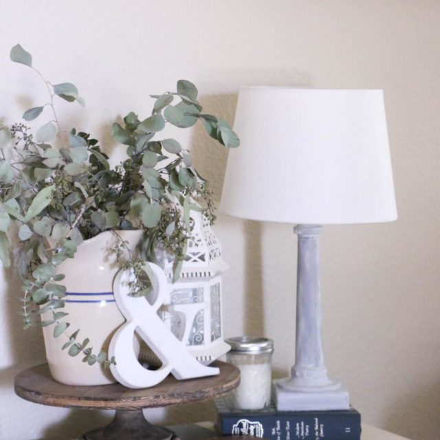 I added this little lamp to the side table inhellip