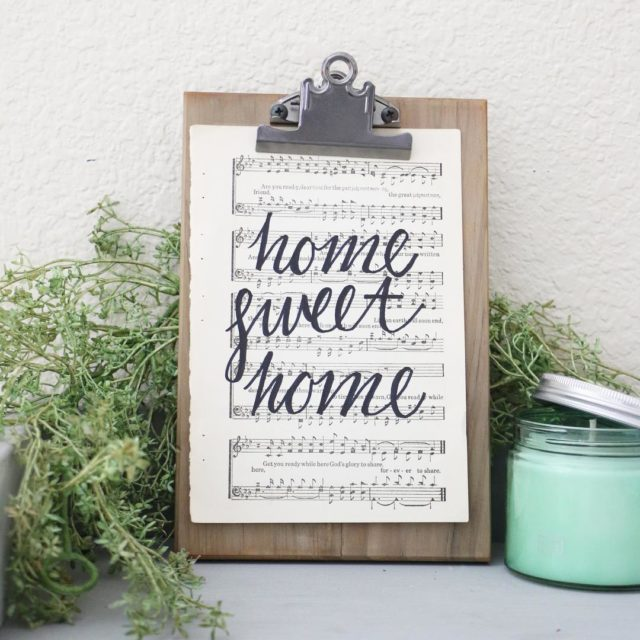 FOR SALE 46 Hand Lettered Home Sweet Home Vintage Hymnalhellip