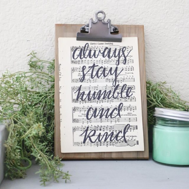 FOR SALE 26 Hand Lettered Always Stay Humble and Kindhellip
