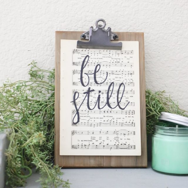 FOR SALE 36 Hand Lettered Be Still Vintage Hymnal Pagehellip