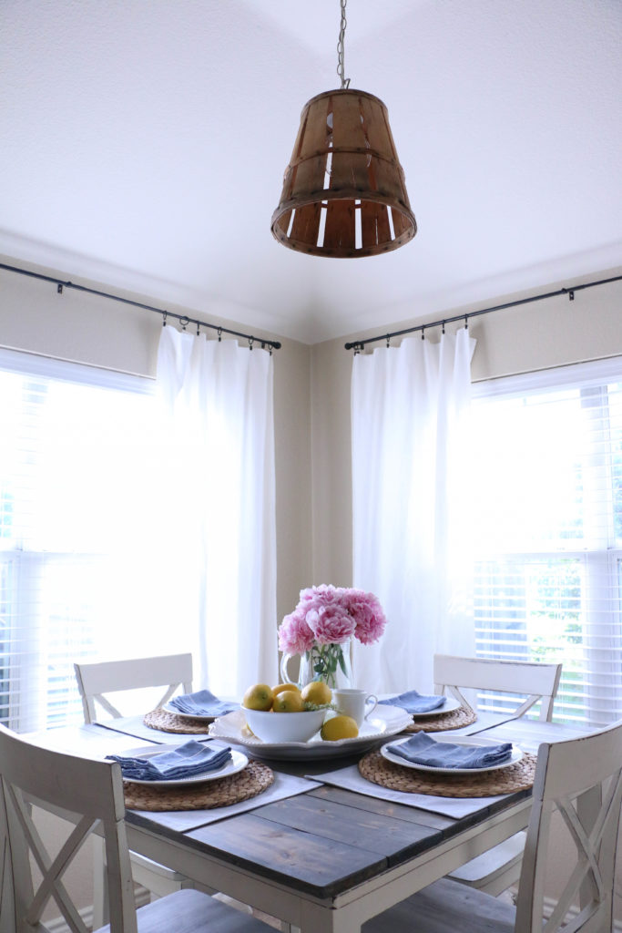 Our DIY Renter Friendly Dining Room Chandelier